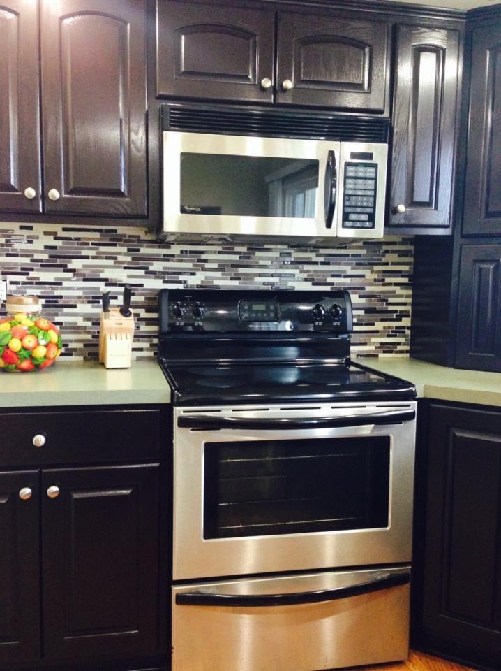 Java Gel Stain Kitchen Transformation | Kitchen reno ...