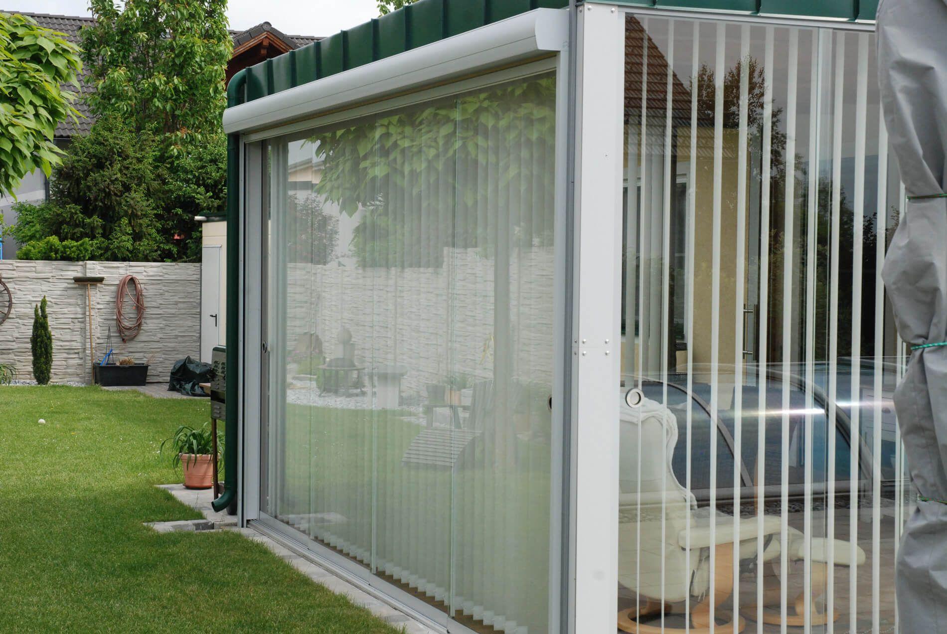 Glasschiebetur Terrasse Effektiver Windschutz Oder