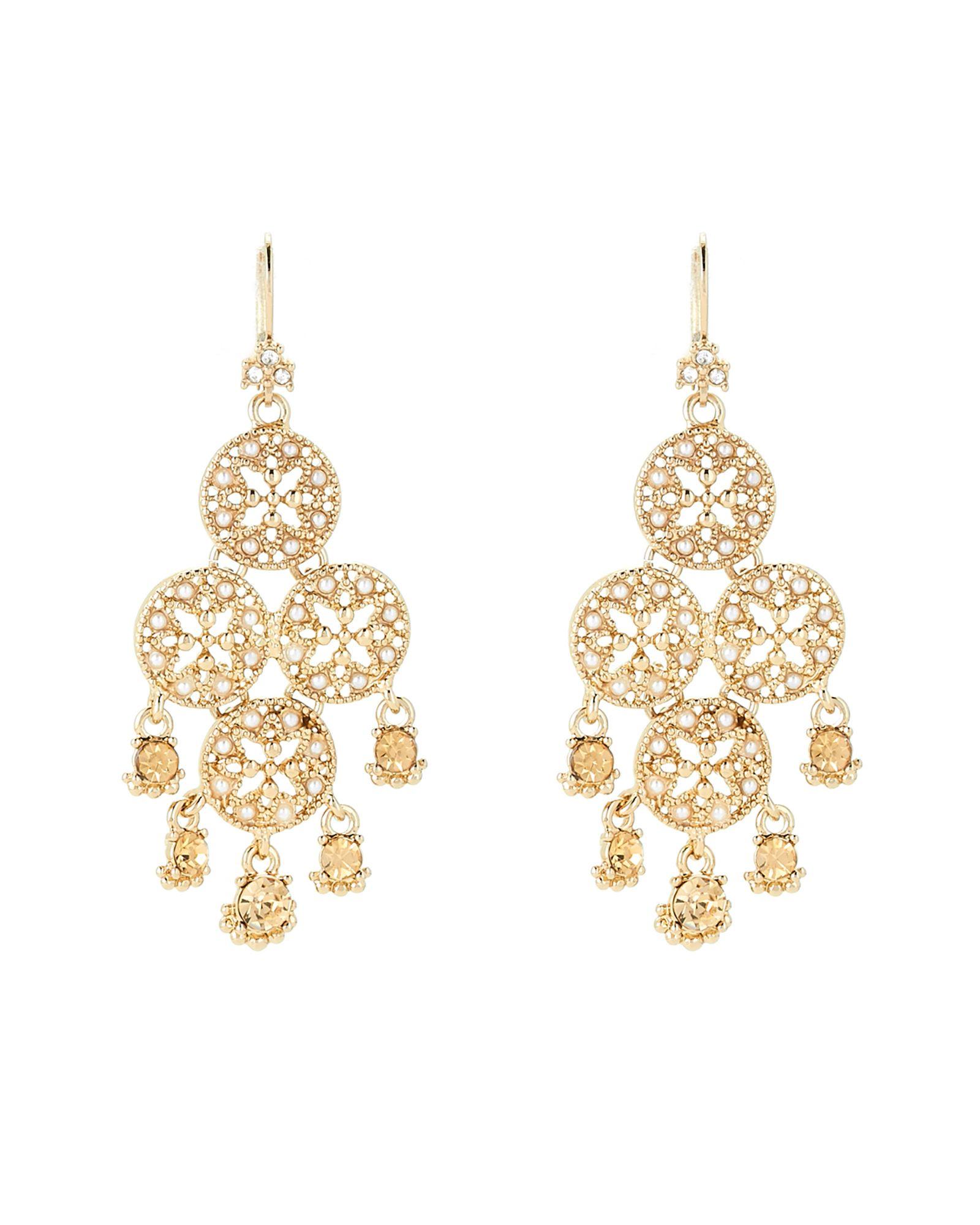 Marchesa gold tone faux pearl chandelier earrings apparel marchesa gold tone faux pearl chandelier earrings arubaitofo Gallery