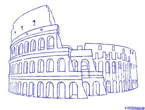 How To Draw The Colosseum Step 7 Kids In 2019 Pinterest