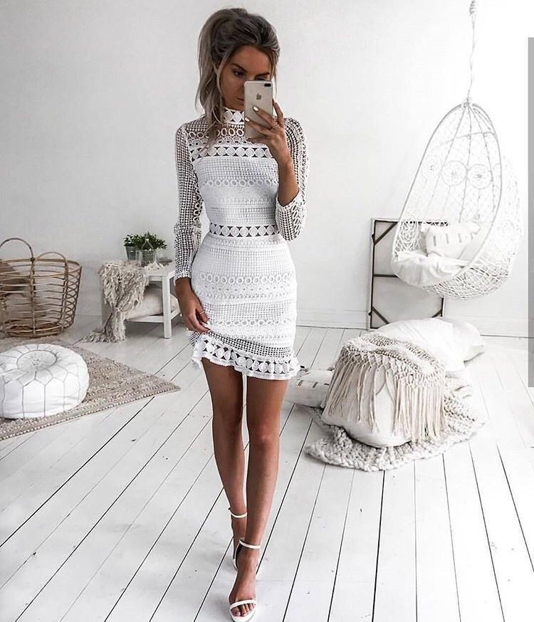 Riptide White Lace Dress Stylin Profilyn Dresses