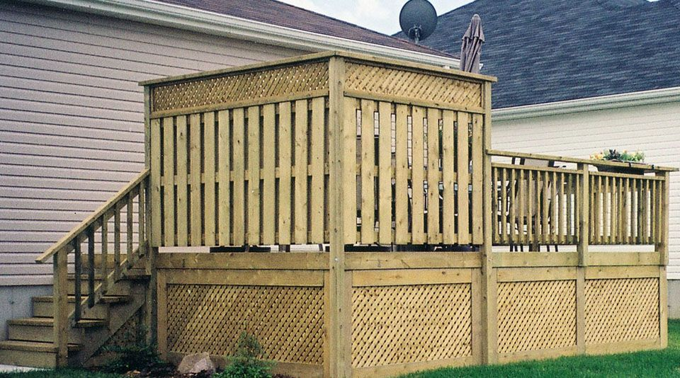 Deck Privacy Wall Open With For