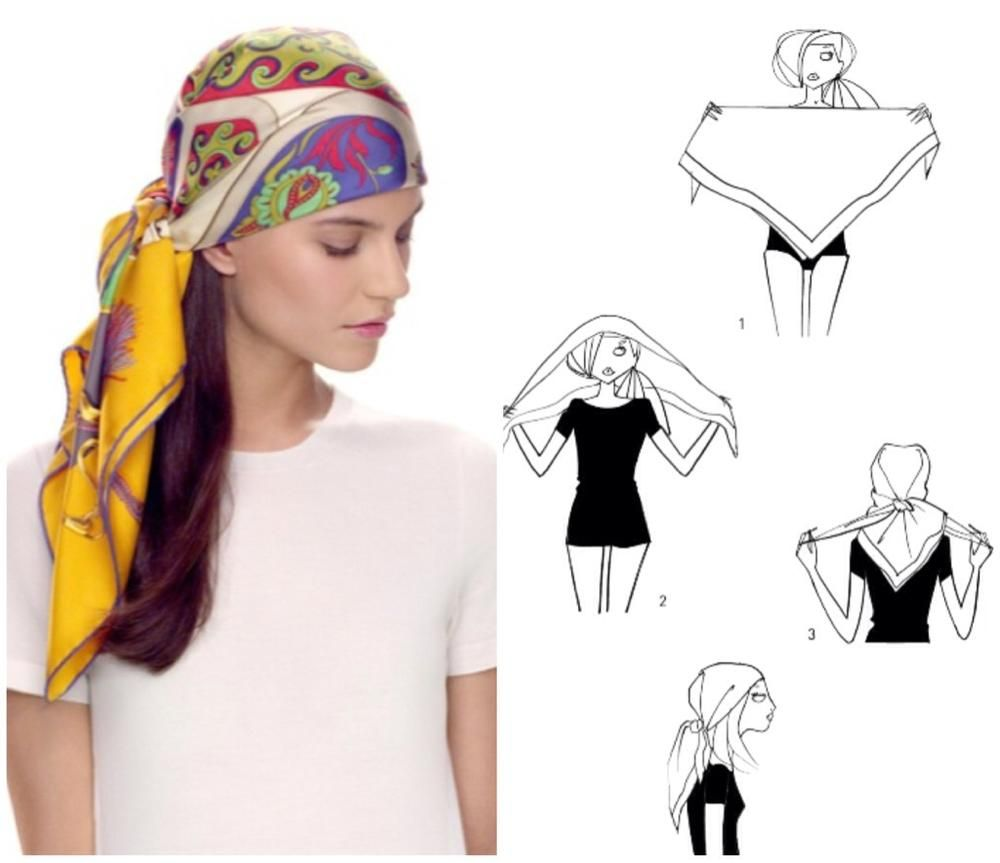 How To Tie A Scarf - Hermès Scarf Knotting Cards - Pirate #tieheadscarves