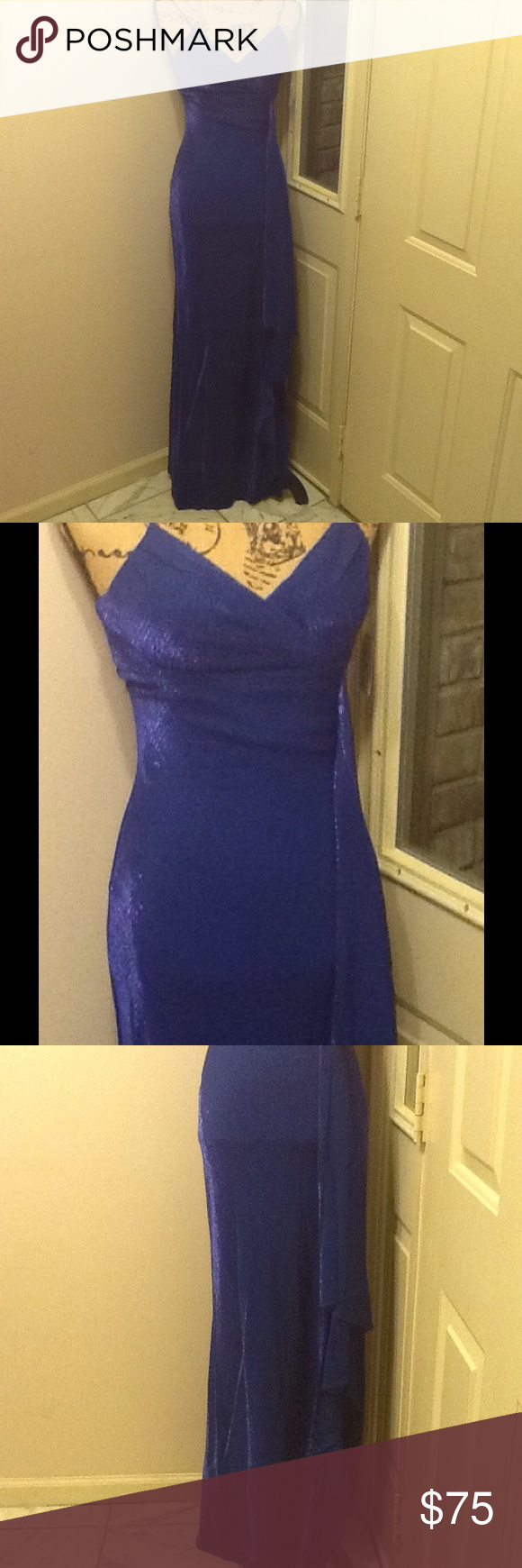 Windsor royal blue prom dress nwt my posh closet pinterest