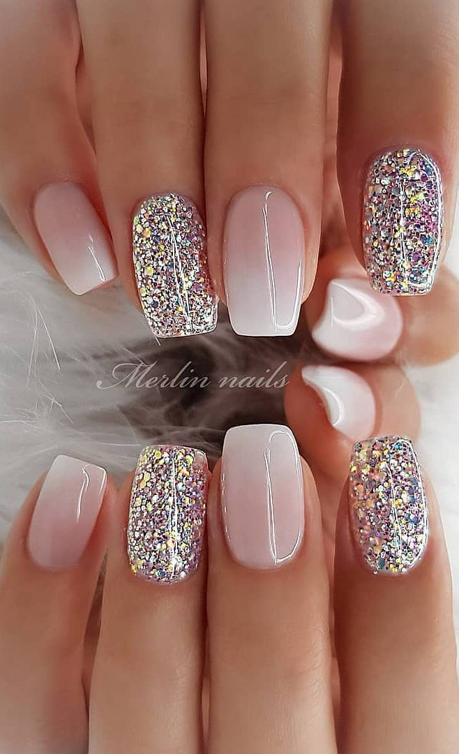 35 Best And Playful Glitter Nails Design Ideas In This Week Part 11 Cute Summer Nail Designs Nail Designs Glitter Nail Designs Summer