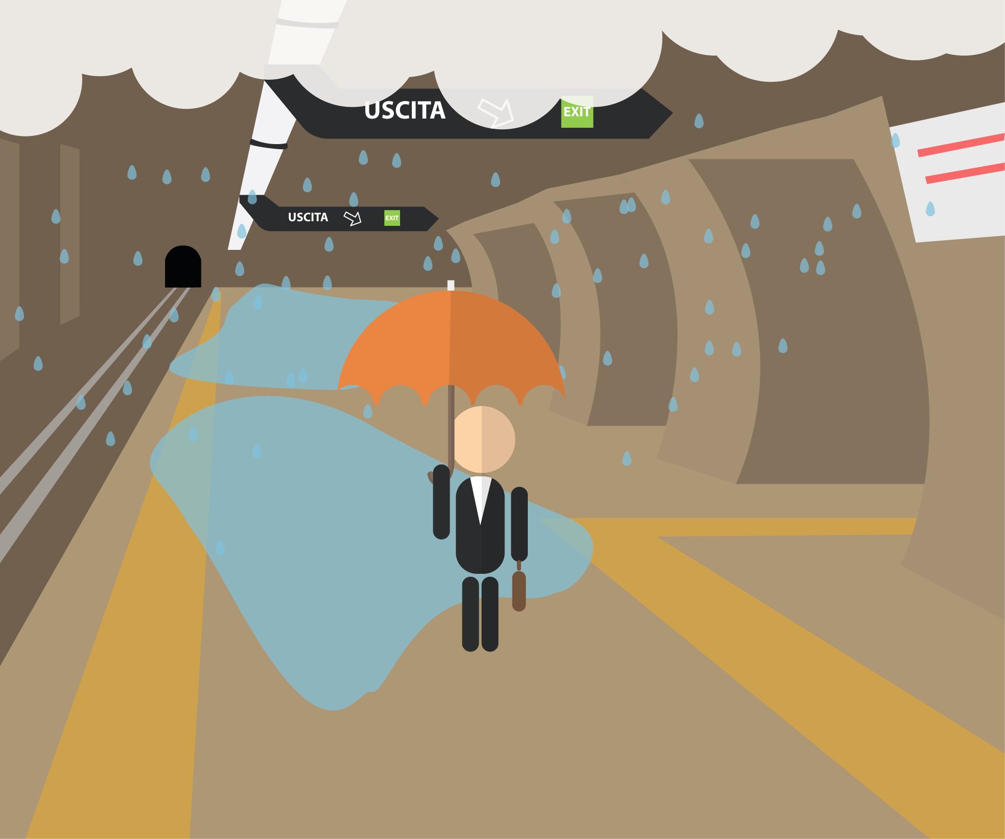 Possibili piogge dentro la stazione metro? RomaBus vi tiene informati e vi evita docce non gradite! ;)