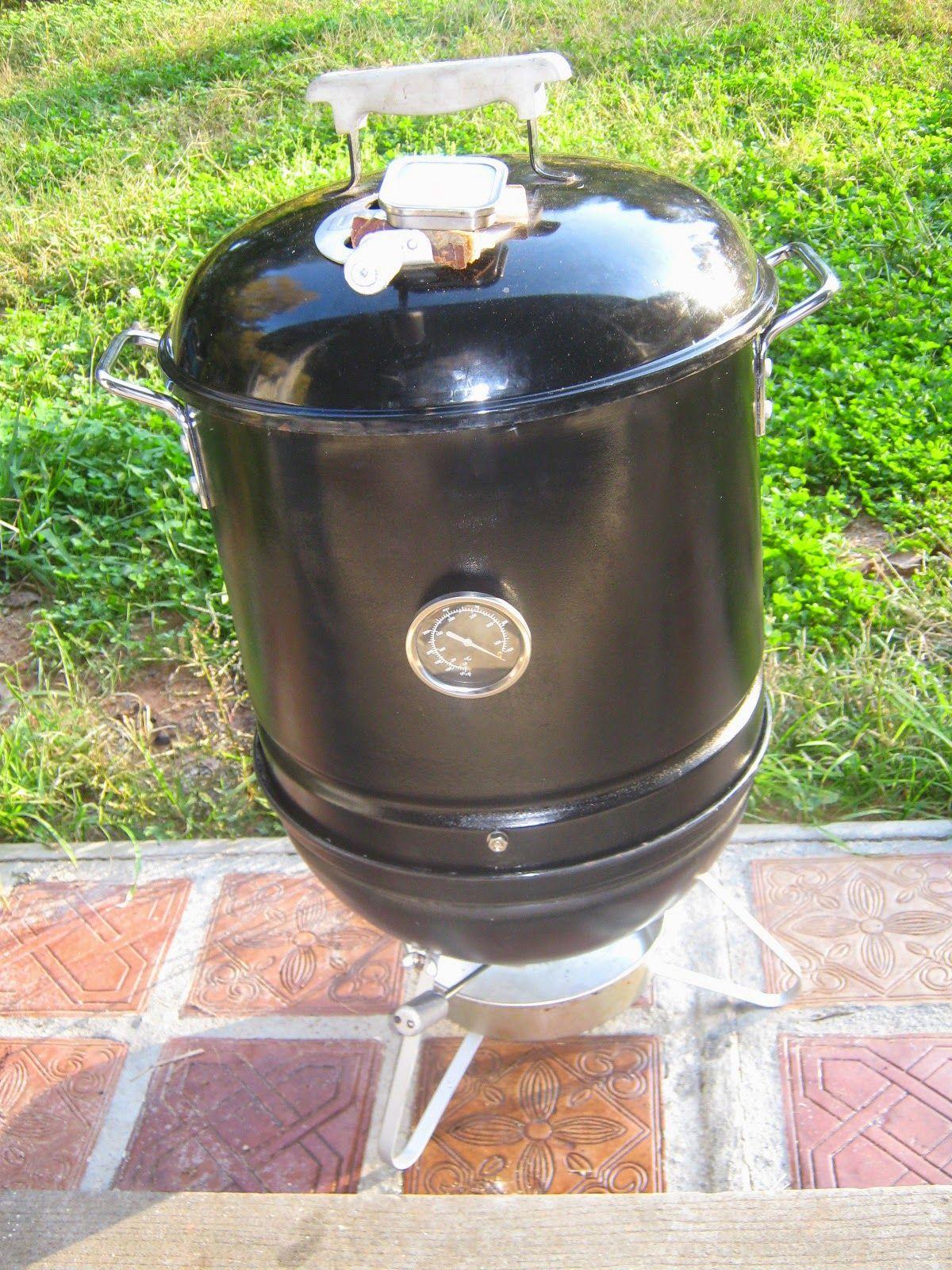 Portable Smoker The Mini Weber Smokey Mountain Ray S Garden Weber Smokey Mountain Smokey Mountains Portable Smoker