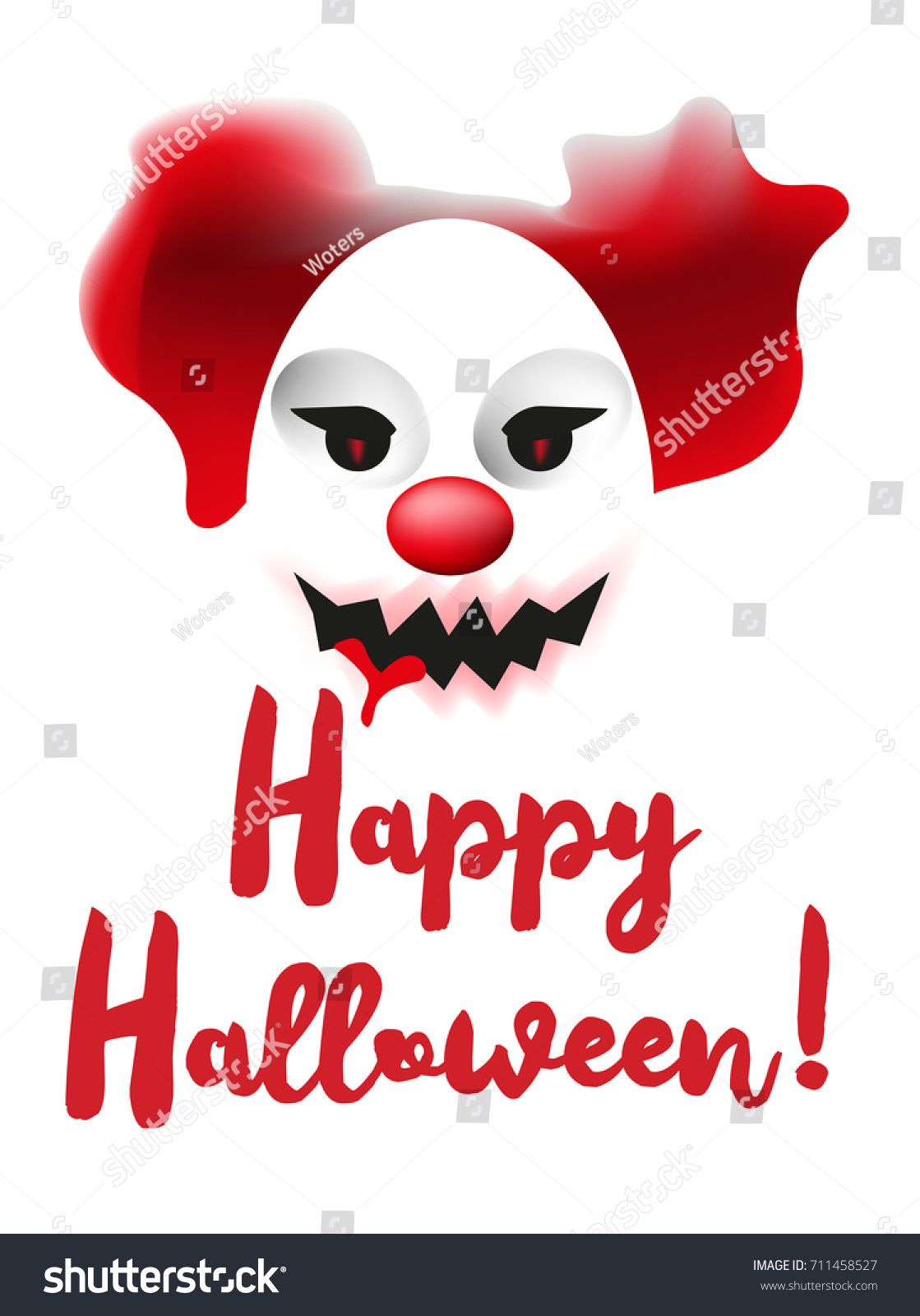 Happy Halloween vector poster. Greeting card template