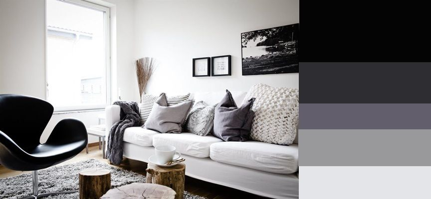 Achromatic Color Scheme Created By Ashley Oparnica Living Room Inspiration Living Room Designs Nordic Interior Design
