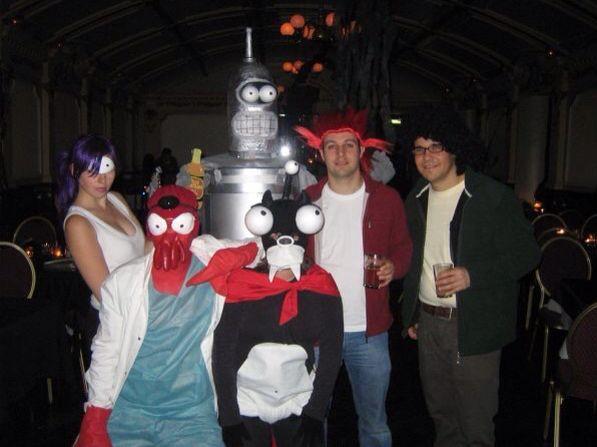 Futurama Group Costume Halloween. Zoidburg Bender Leela Fry Hermes  sc 1 th 194 & Futurama Group Costume Halloween. Zoidburg Bender Leela Fry ...