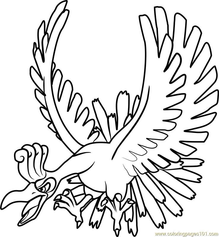 Ho Oh Pokemon Coloring Page