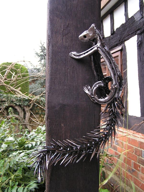Squirrel!!! Life Size Horseshoe Sculpture By Tom Hill