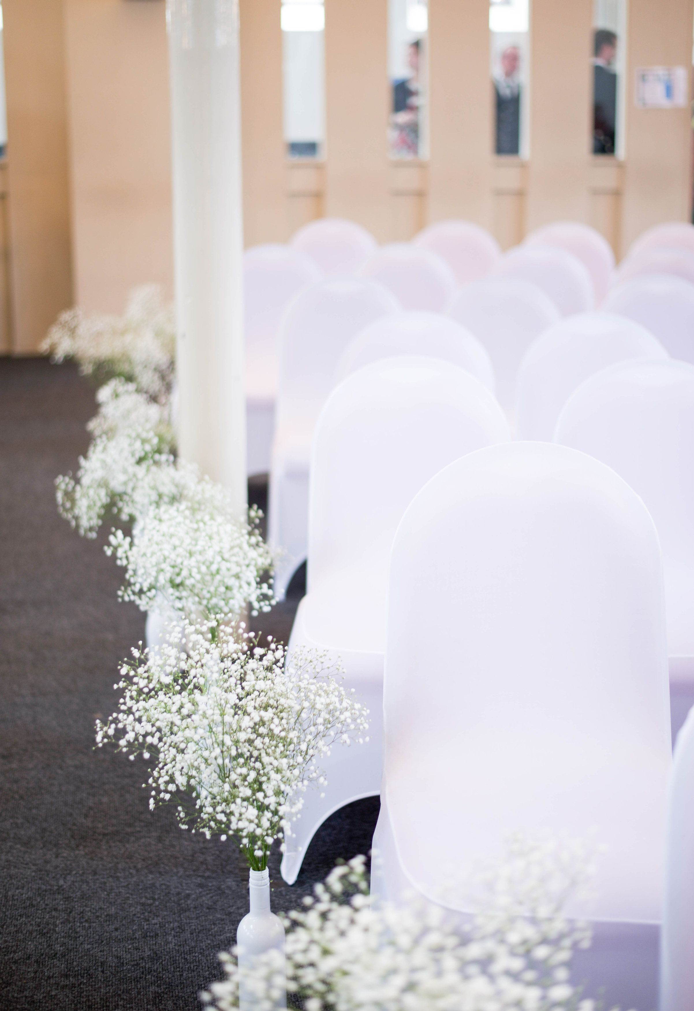 Aisle Decoration Diy Wine Bottles Spray Painted White With