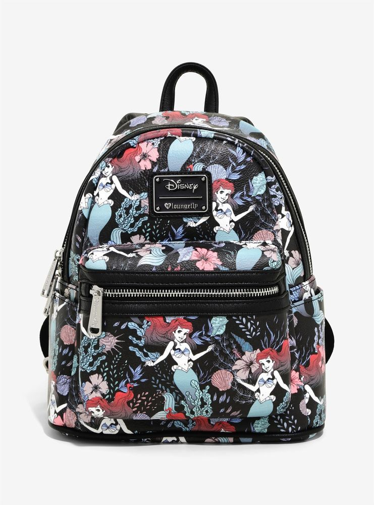 LOUNGEFLY DISNEY THE LITTLE MERMAID FLORAL MINI BACKPACK  Loungefly   Backpack 888e9bf18a170