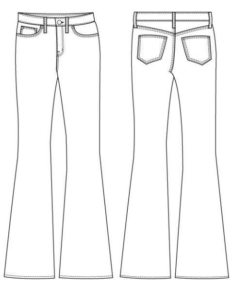 Birkin Flare Jeans Sewing Pattern by Baste + Gather | Patterns I\'d ...