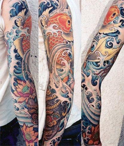 Top 47 Koi Fish Tattoo Ideas 2020 Inspiration Guide Tattoos Waterfall Tattoo Japanese Sleeve Tattoos