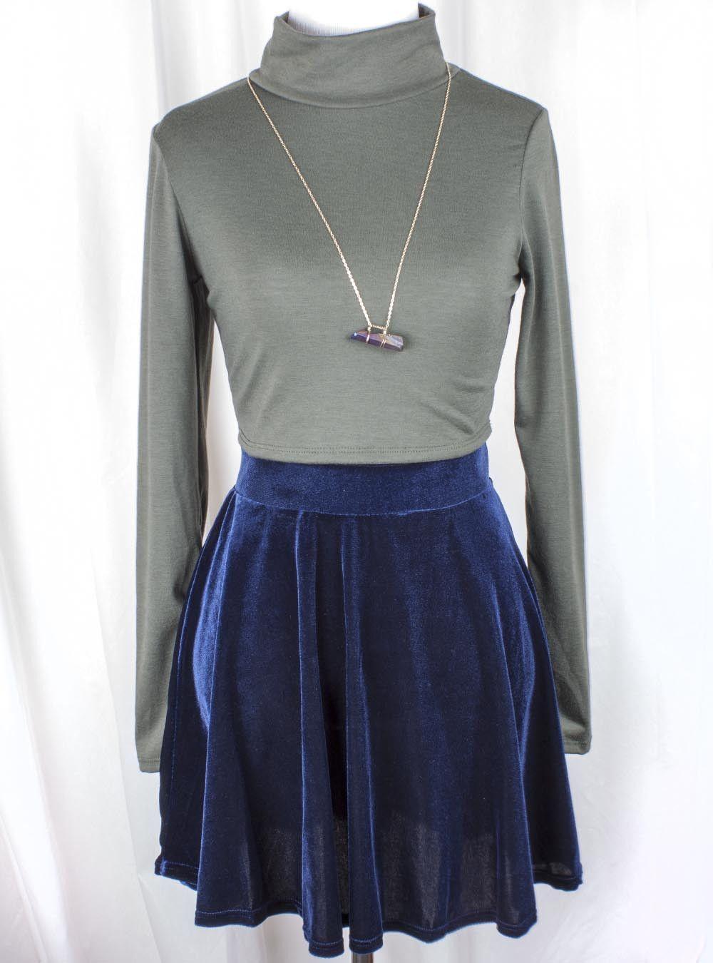 Isabella Blue Velvet Skater Skirt at Beatnik Emptiness | My Style ...