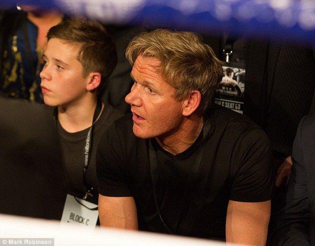 Babysitting duties? Gordon Ramsay bonds with Brooklyn Beckham at - babysitting duties