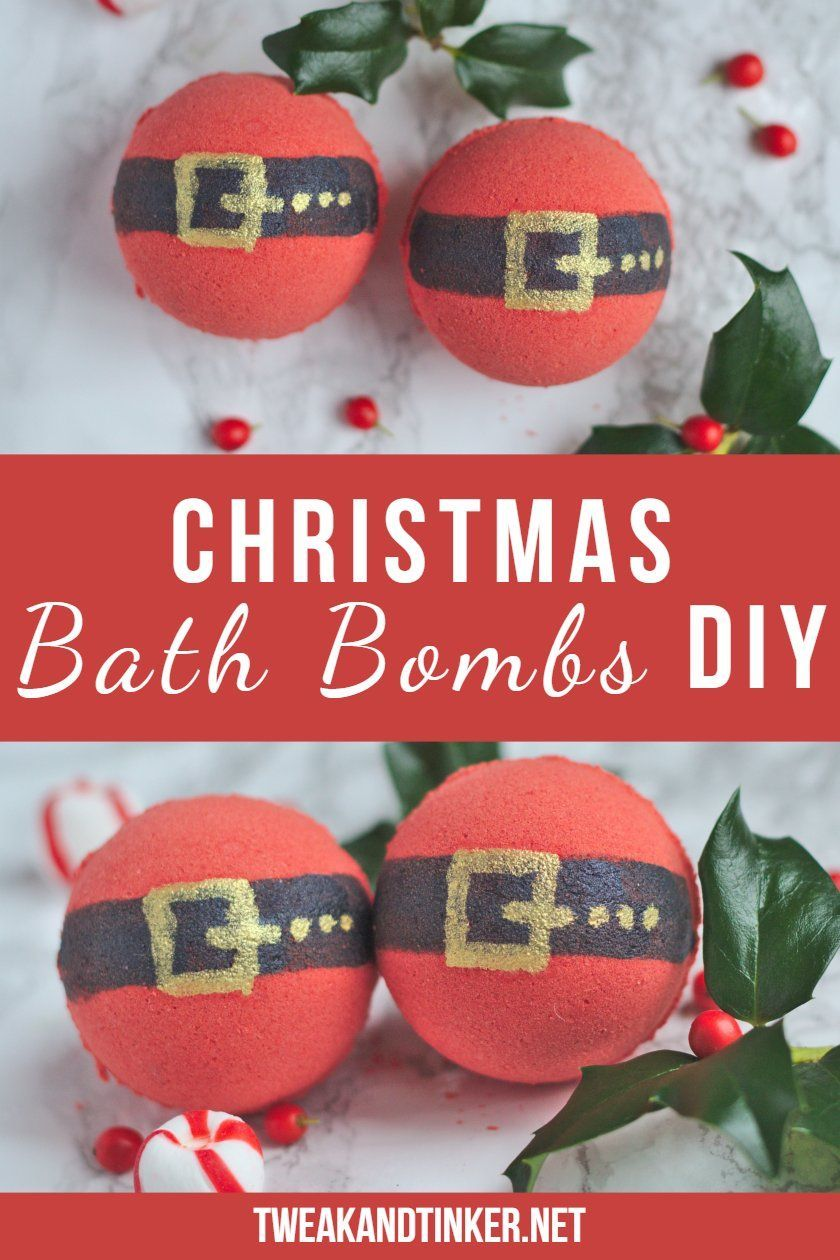 This easy DIY bath bomb recipe makes for perfect homemade Christmas gifts and stocking stuffers. Aren't these santa bath bombs adorable?    christmassoap #homemadechristmasgifts #christmasbathbombs #christmasgiftsforhim #diychristmascards #giftsforkids #kidschristmas #homemadegifts #xmas