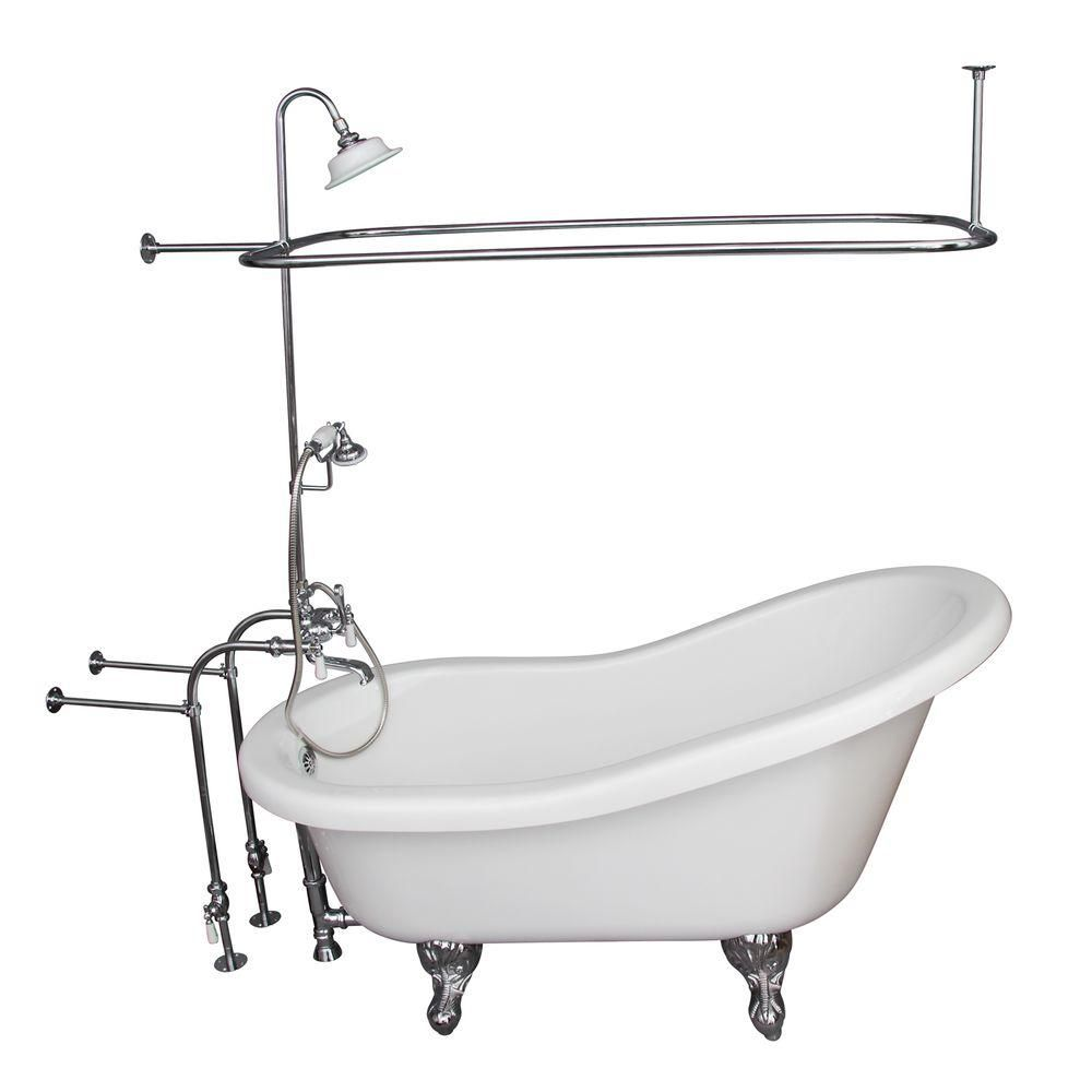 Barclay Products 5 6 Ft Acrylic Ball And Claw Feet Slipper Tub In