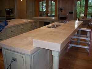 Superb Light Colored Concrete Countertops. Much Cheaper Than Granite, Barely Any  Maintenance, And Extremely Durable. This Would Be Great In Numerous Places  In The ...