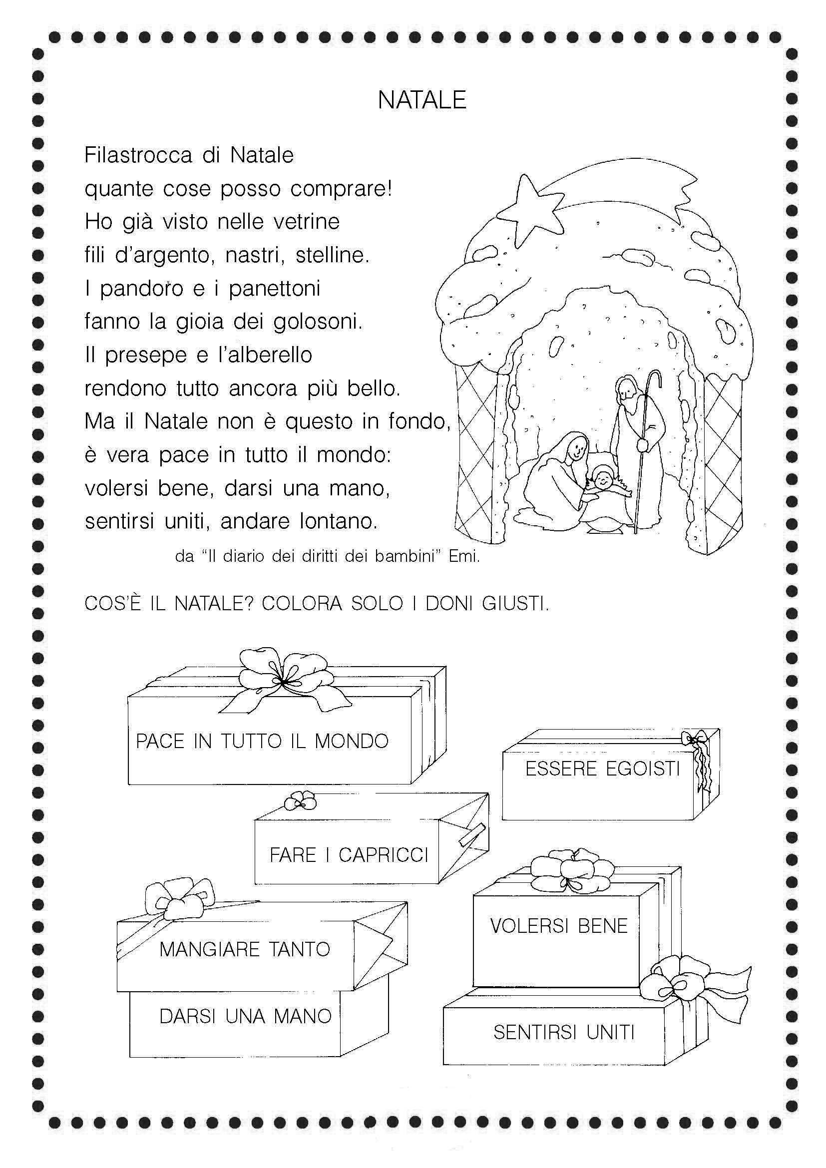Filastrocca Natale Istruzione Christmas Illustration Christmas