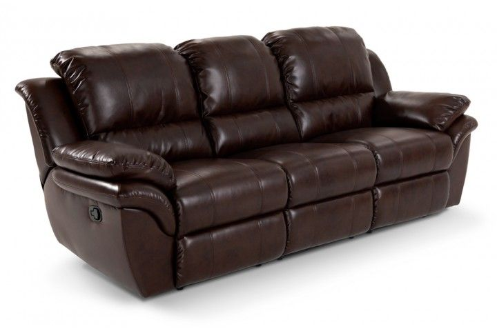 Brown Fabric Or Leather Reclining Sofa Reclining Furniture Living Room Furniture Sofas