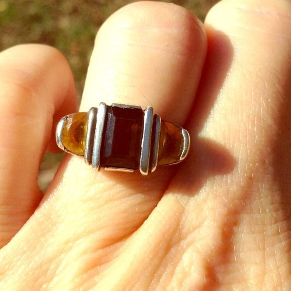 Sundance Smokey Topaz Citrine Dream Ring Sterling silver. Fits size 6-61/2 Sundance Jewelry Rings