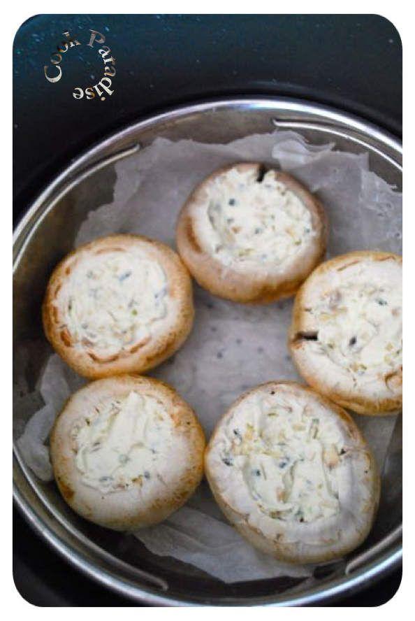 Champignons farcis au fromage frais COOKÉO   Recettes de ...
