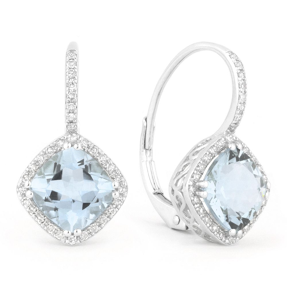 a97e5ad8948864 Cushion cut diamond shape earrings by Madison L Designs | Color ...
