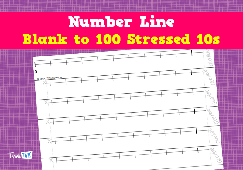 Number Line - Blank to 100 Stressed 10s | Mathematics | Pinterest ...