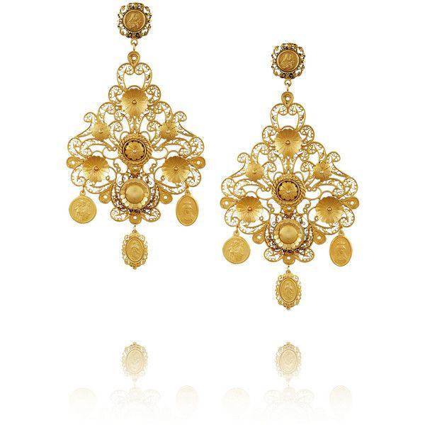 Dolce gabbana filigrana gold plated chandelier clip earrings 34 dolce gabbana filigrana gold plated chandelier clip earrings 34 245 uah aloadofball Gallery