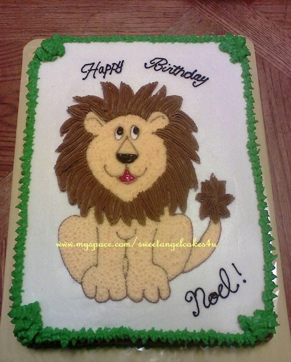 Lion Birthday Cake From BrooklynCakecom Pinterest Lion - Lion birthday cake design