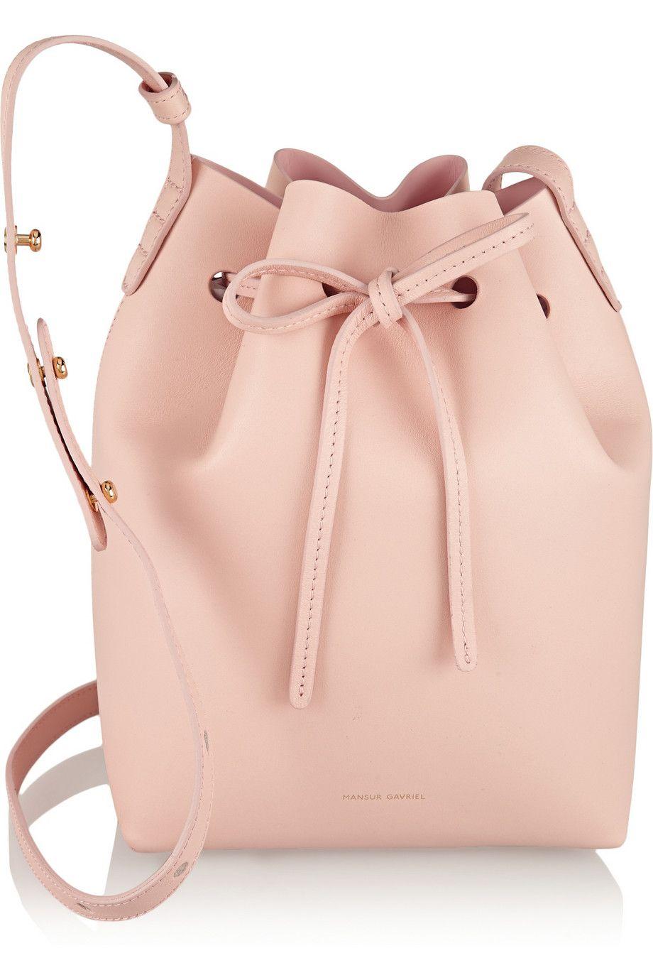 Mansur Gavriel|Mini leather bucket bag|NET-A-PORTER.COM