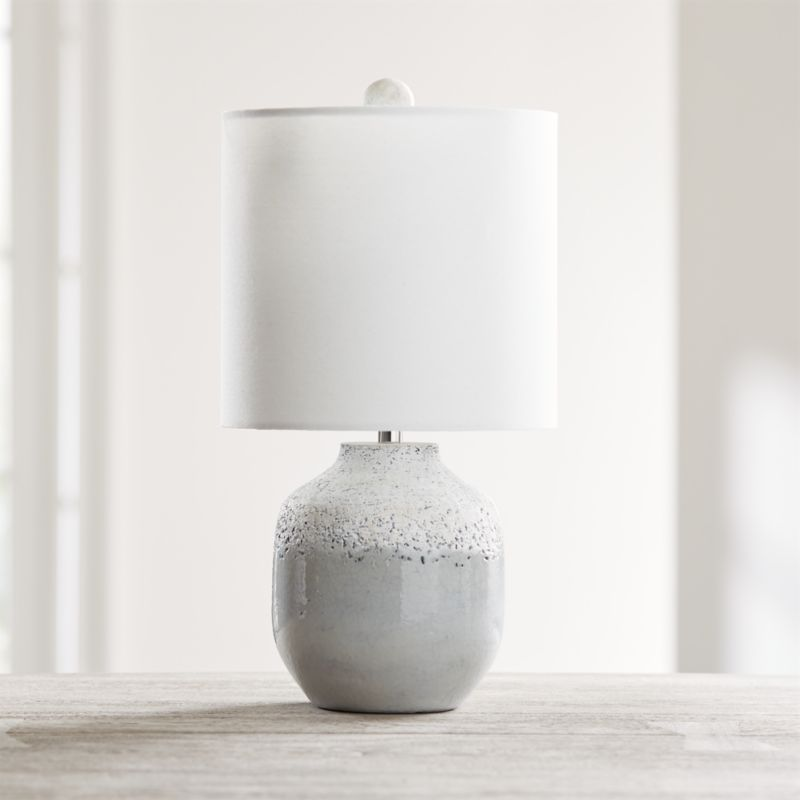 Quinn Grey and White Table Lamp + Reviews Crate and