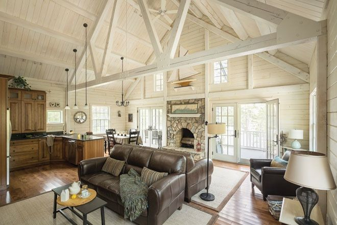 Rustic Update With Images Log Cabin Interior Cabin Interiors