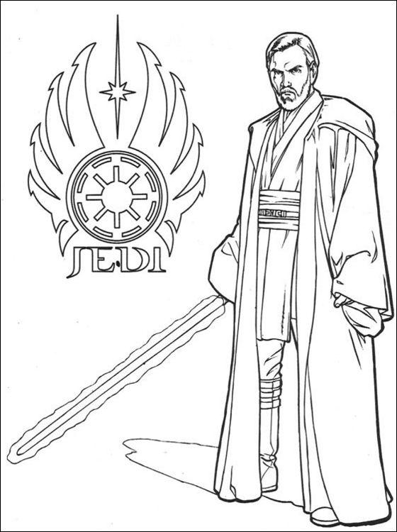 Star Wars Obi Wan Kenobi Printable Page Coloring Pages Star