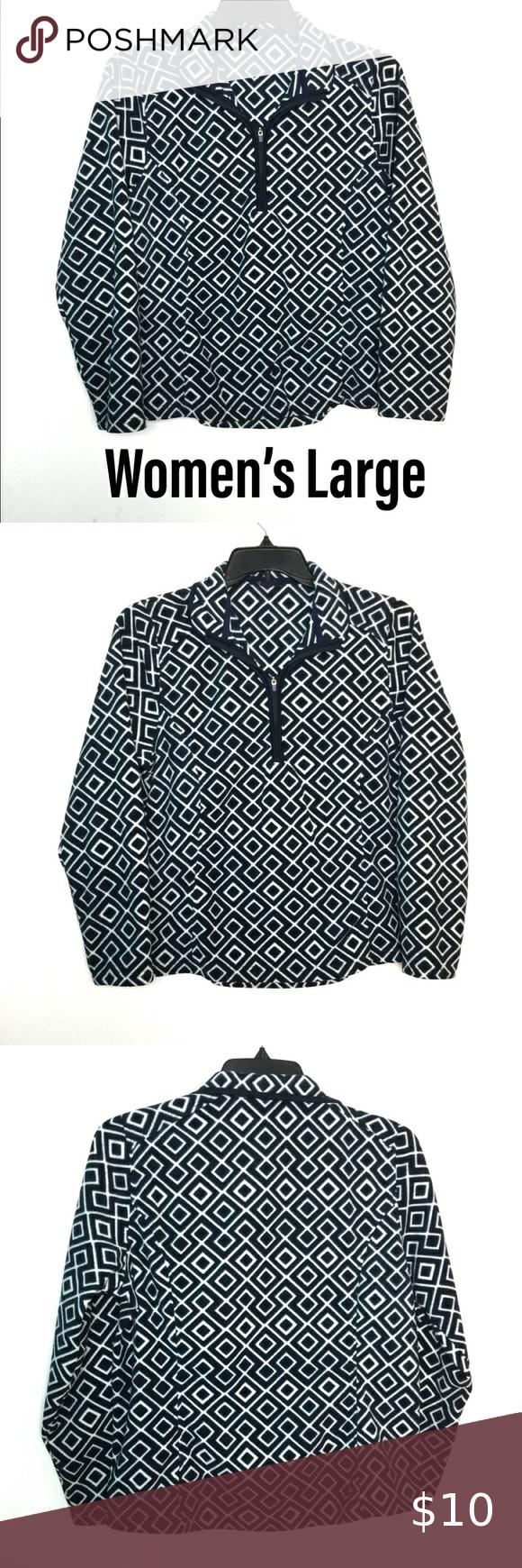 Lands End L 1 4 Zip Fleece Pullover Sweatshirt Euc Fleece Pullover Quarter Zip Sweatshirt Pullover Half Zip [ 1740 x 580 Pixel ]