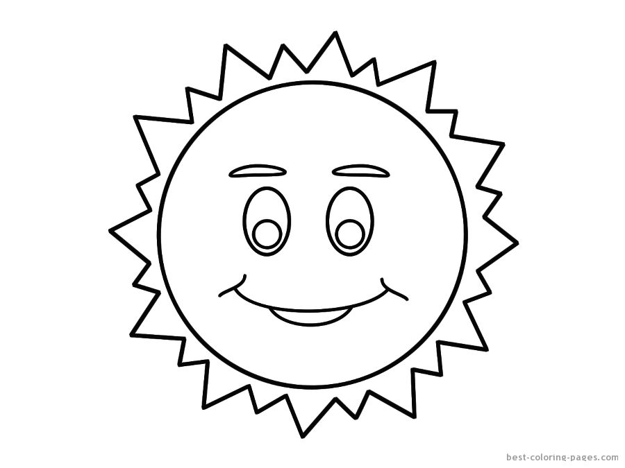 Spring Sun Printable Coloring Pages Sun Template For Kids - AZ