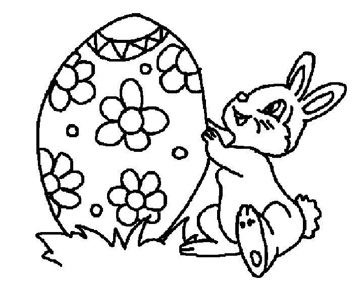 Coniglio Con Uovo Di Pasqua Decorato Con Dei Fiori Nozze Easter