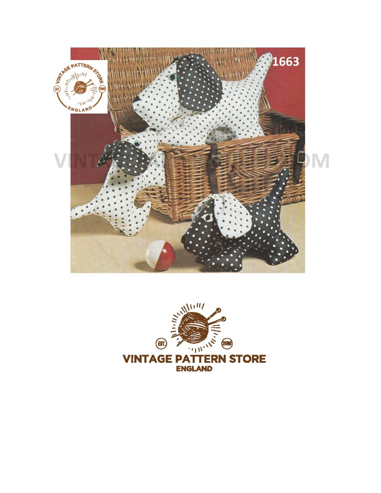 toy dog sewing patterns, vintage toy dog, Toy puppy, dog doorstop ...