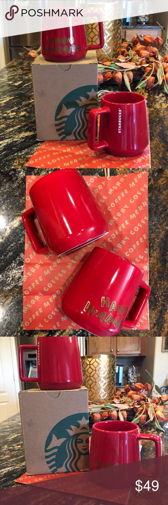 Price FIRM New Starbucks Hand Warmer Coffee Mugs NWT in
