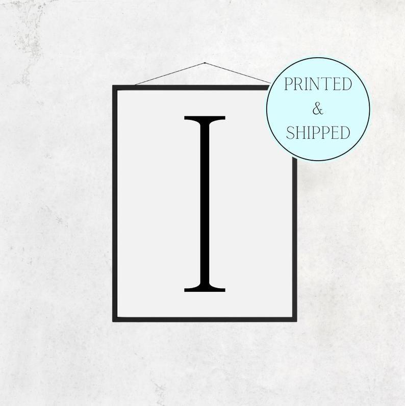 I Print Letter I Print Alphabet Print Letter Print Simple   Etsy