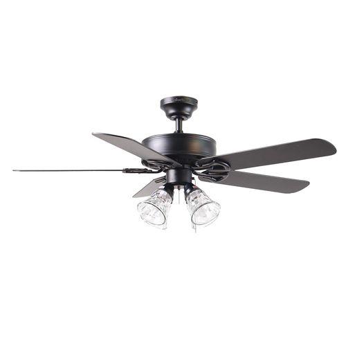 Zoomed Harbor Breeze 52 Springfield Ii Matte Black Ceiling Fan