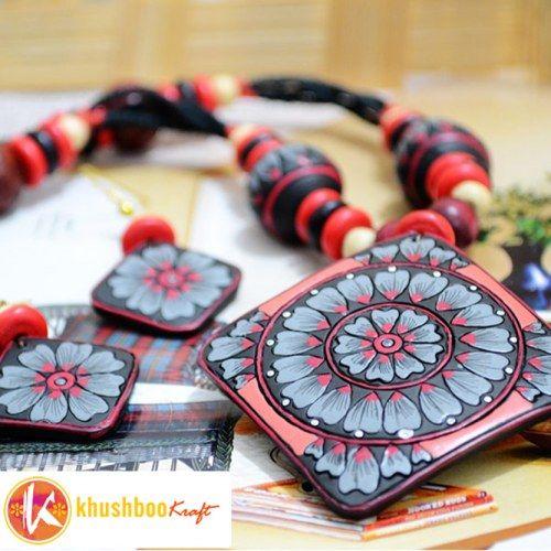 Fashion Jewellery - Designer Terracotta Necklace