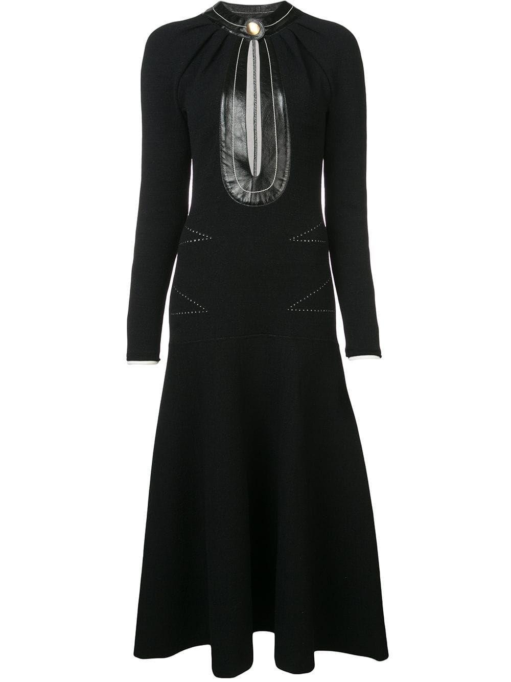 106765b2934 PROENZA SCHOULER PROENZA SCHOULER KEYHOLE KNITTED DRESS - BLACK.   proenzaschouler  cloth