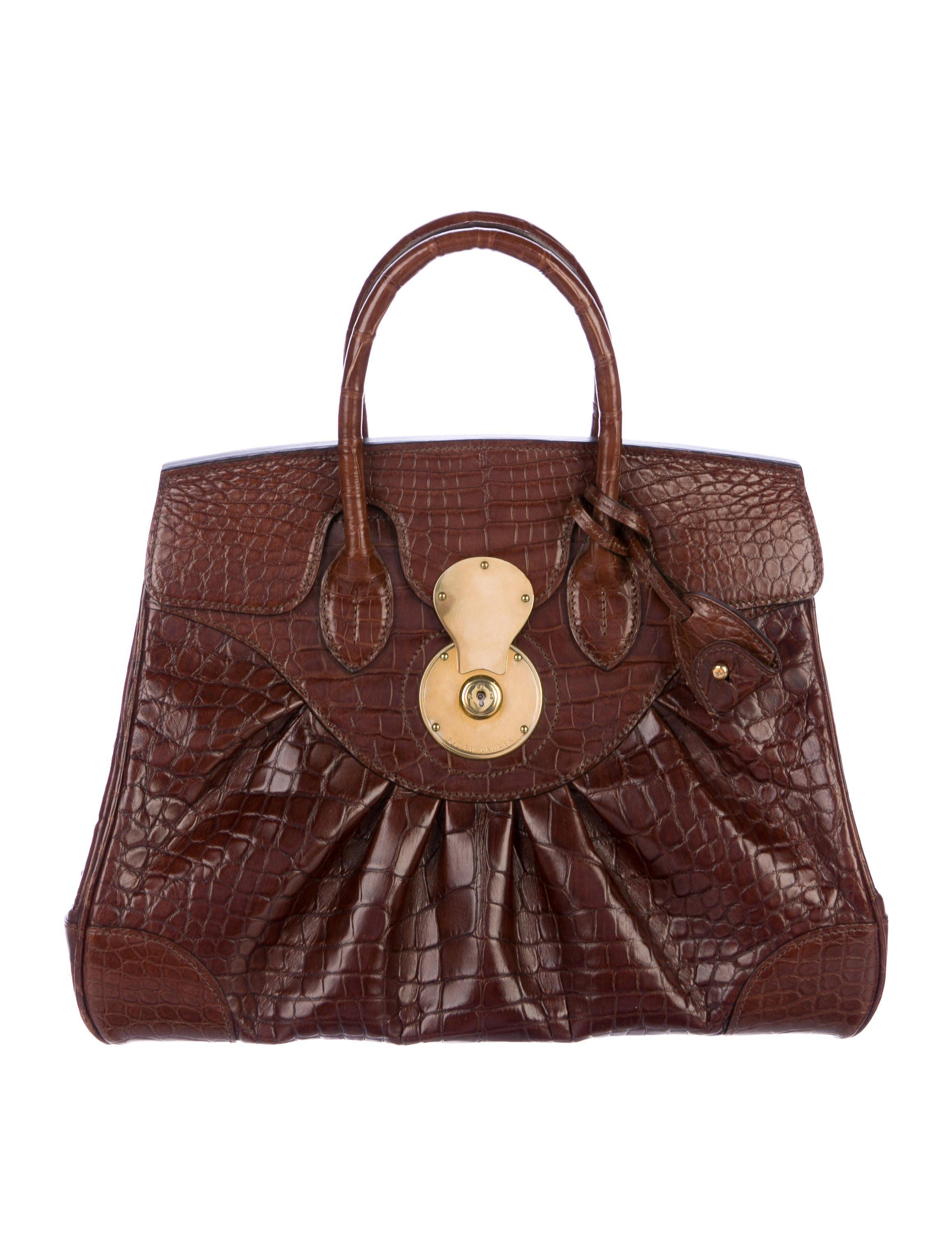 ee3d9b035ecb ... sweden luxury online shopping ralph lauren alligator ricky bag 2f3b1  b776d