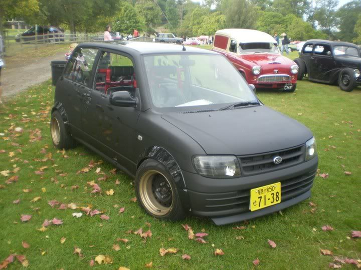 matte black daihatsu l701 mira cuore with bodykit cars. Black Bedroom Furniture Sets. Home Design Ideas