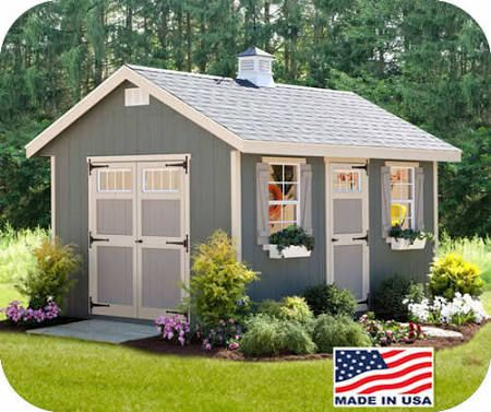 EZ-Fit Riverside 10x12 Wood Storage Shed Kit [ez_riverside1012] & EZ-Fit Riverside 10x12 Wood Storage Shed Kit [ez_riverside1012 ...
