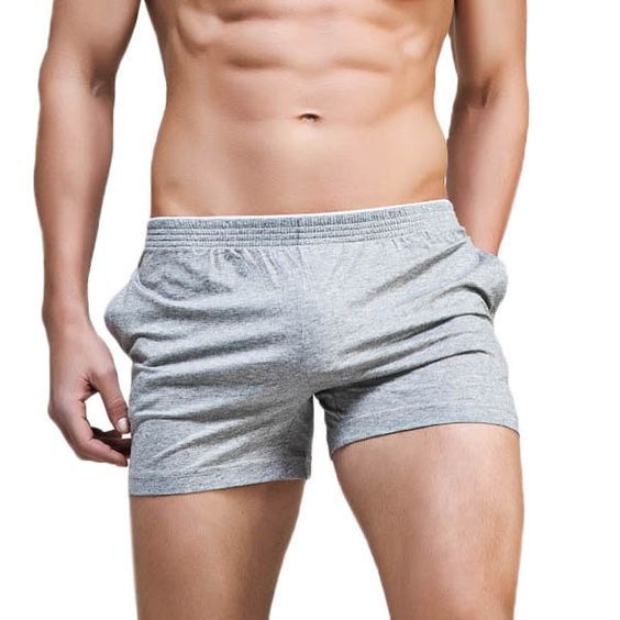 3a0b22247d9 Mens Casual Solid Color Breathable Low-waist Pajamas Boxers Leisure ...